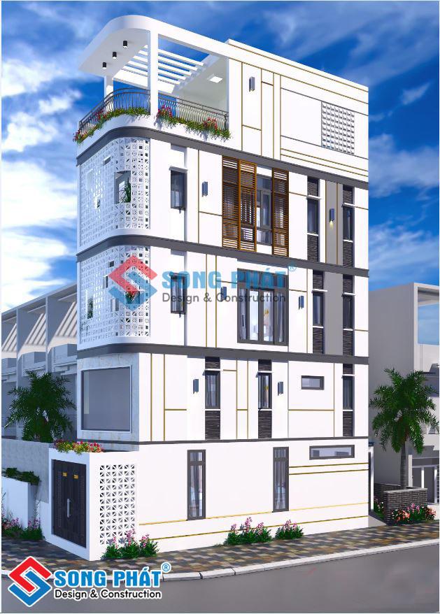 Nhà 4 tầng 2 mặt tiền có tầng lửng đẹp tại Quận Phú Nhuận.