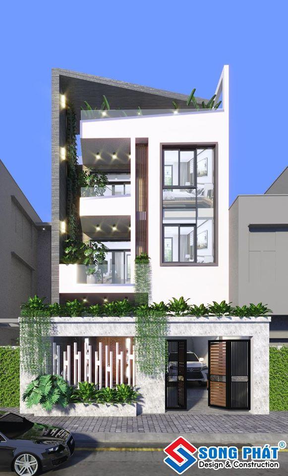 Thiết kế nhà 1 trệt 2 tầng 8x15m