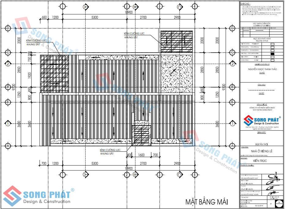 Thiết kế nhà 3 tầng 10x10m.