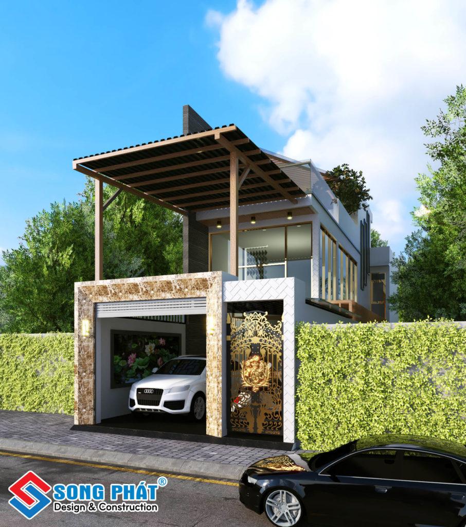 Thiết kế nhà 2 tầng 5x25m với kiến trúc mở hiện đại Phương Tây.