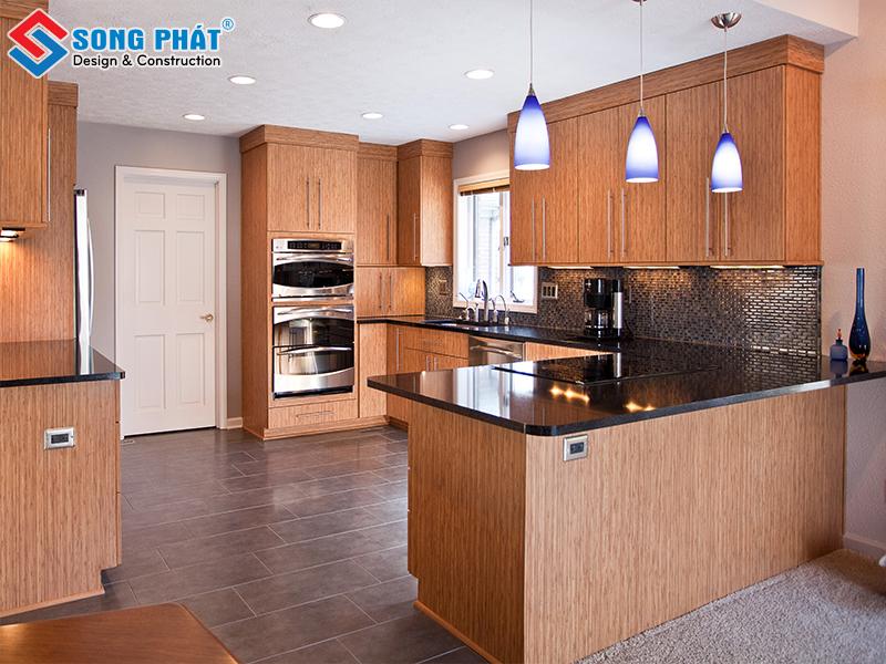 Mẫu thiết kế phòng bếp đẹp trắng sáng