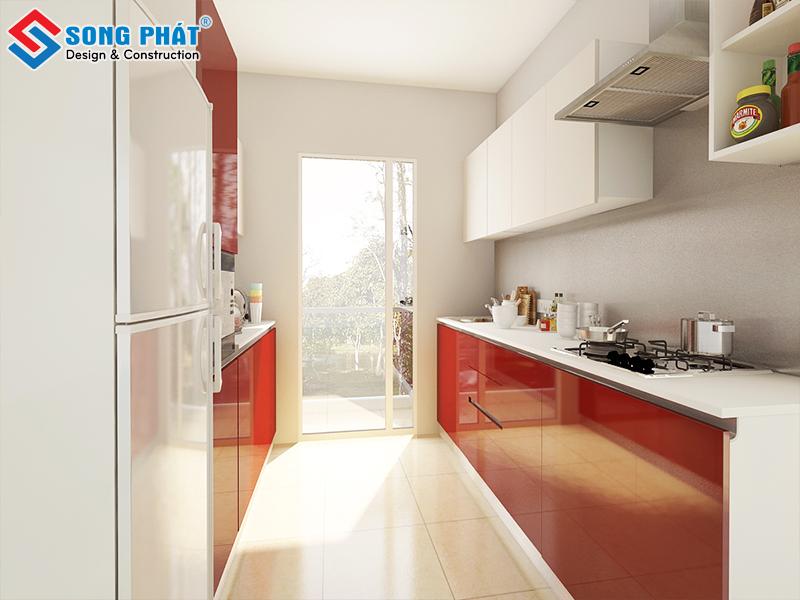 Không gian phòng bếp cho nhà phố mang phong cách hiện đại