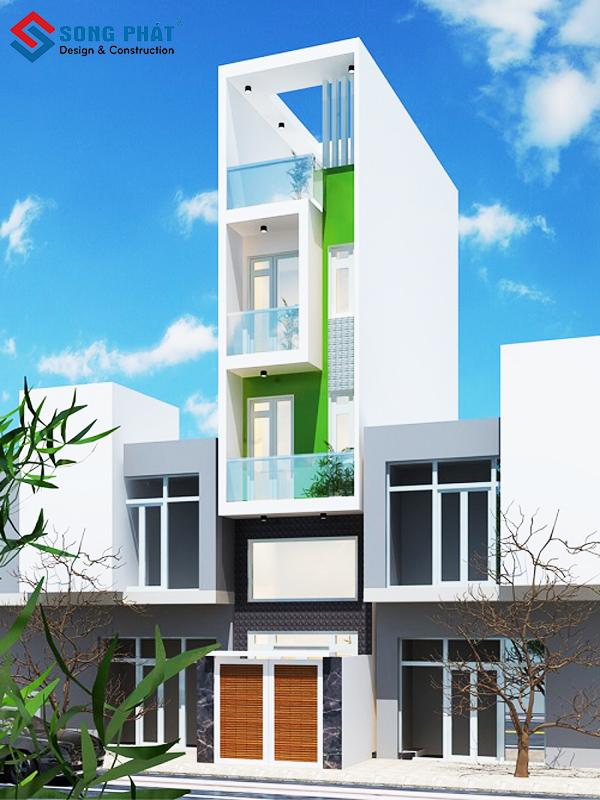 Mẫu nhà phố đẹp ấn tượng 5 tầng