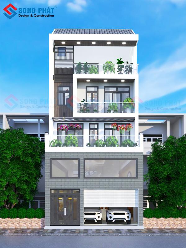 Kiến trúc nhà 5 tầng cây xanh tươi mát