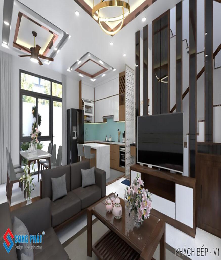 Hoàn thiện nhà phố liền kề với nội thất đẹp tại khu Dự Án Phúc An City Long An.
