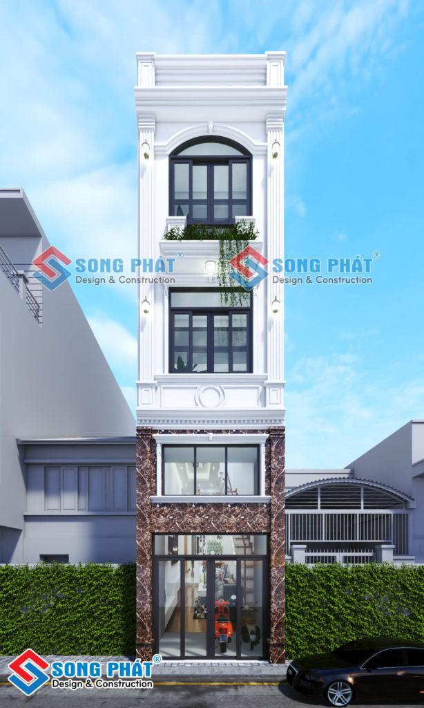 Thiết kế nhà 3x18m chết mê với kiến trúc Bán Cổ Điển  tại Gò Vấp.