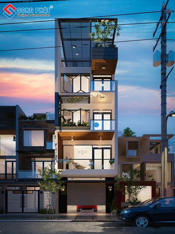 Siêu phẩm nhà 5 tầng đẹp mang tính thẩm mỹ cao