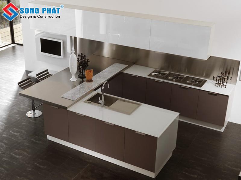 Mẫu tủ bếp chữ U cho thiết kế phòng bếp đẹp