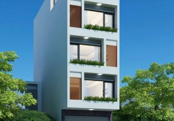 Mẫu kiến trúc nhà phố 5 tầng trang nhã hài hòa
