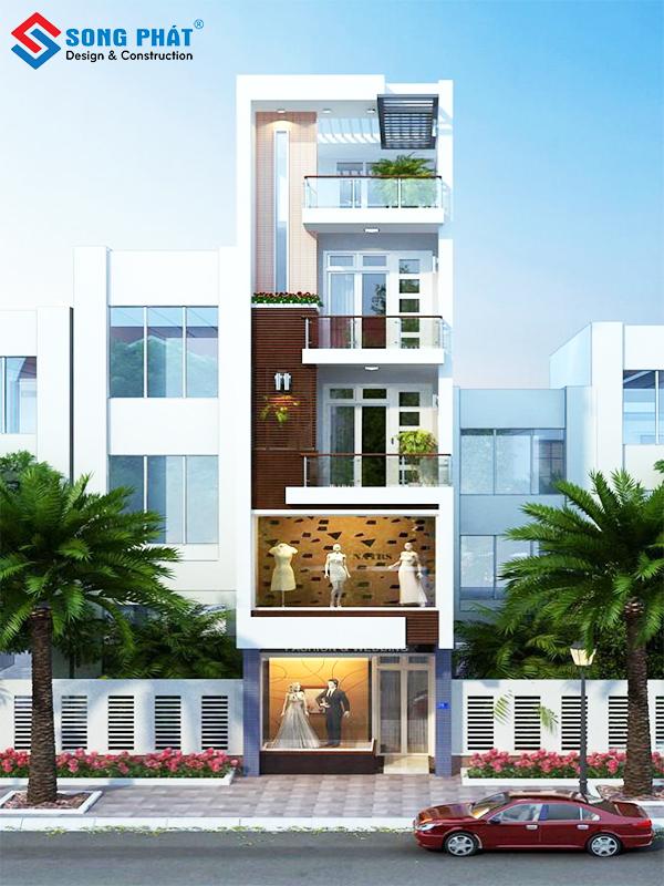 Mẫu thiết kế nhà phố đẹp 5 tầng nên tham khảo