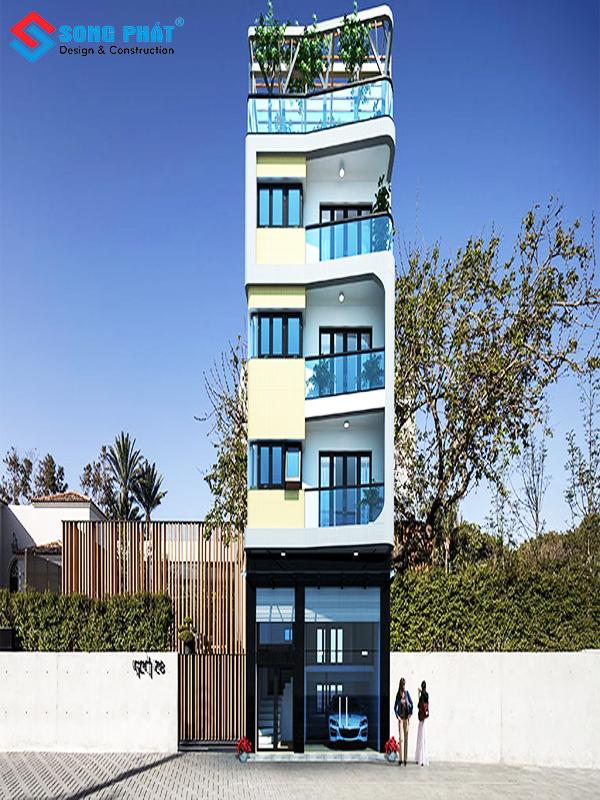 Mẫu nhà 5 tầng với thiết kế đẹp
