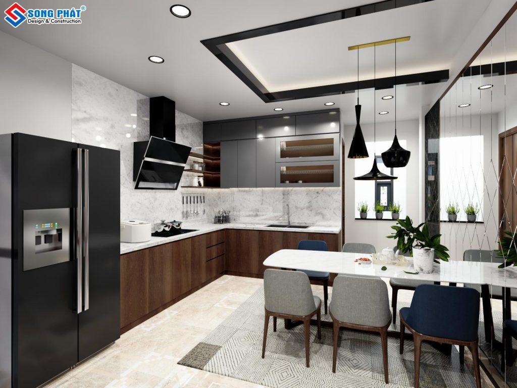 Mẫu thiết kế nội thất nhà bếp ở anh Ngân – Chị Hậu.