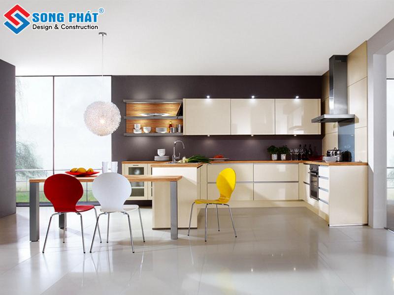 Tủ bếp chữ u cho thiết kế phòng bếp ấm cúng