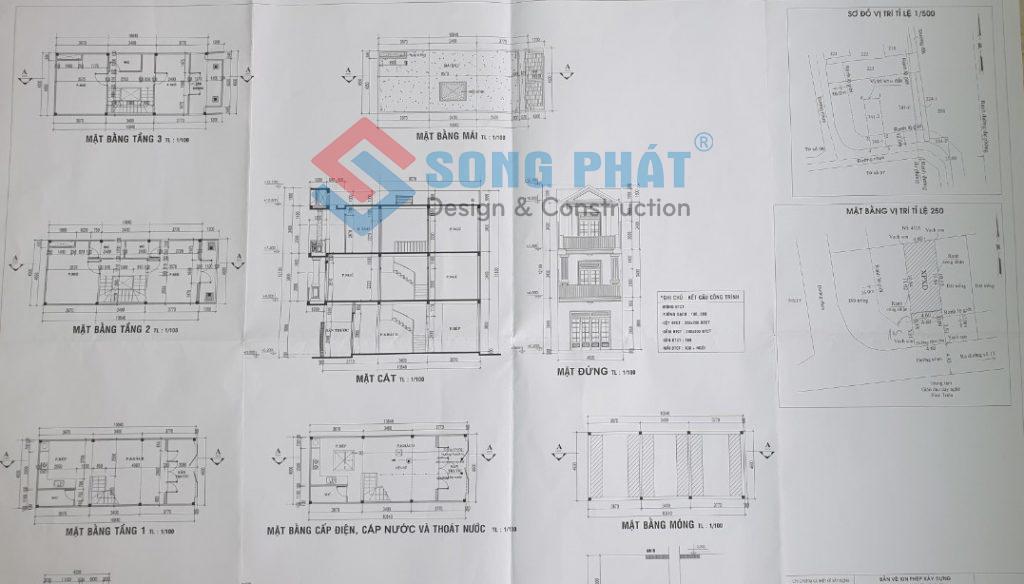 Tư vấn thiết kế xây dựng nhà miễn phí Song Phát