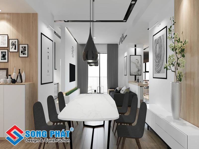 Đảm bảo sự hòa hợp không gian khi thi công nội thất chung cư