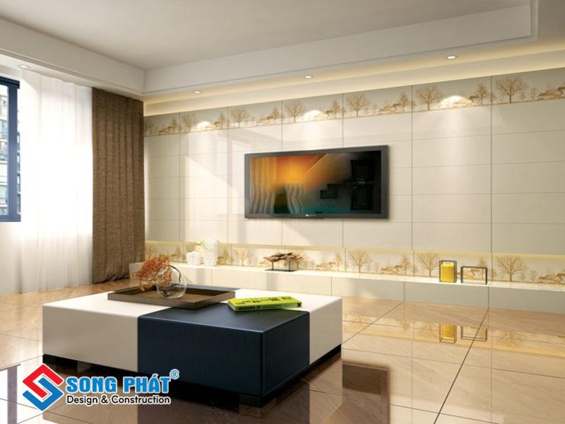Gạch ốp tường cho nhà nhỏ nên chọn tone màu trắng sáng