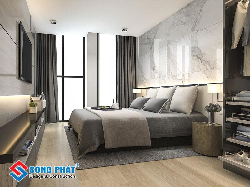 Gạch ốp tường cho phòng ngủ
