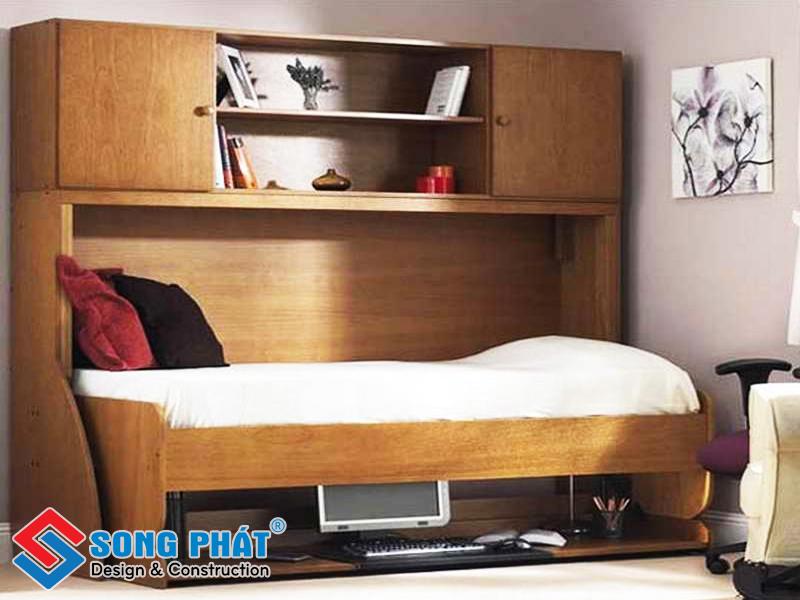 Chiếc giường thiết kế thông minh tiết kiệm diện tích