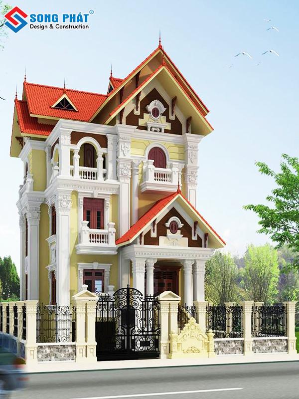 Thiết kế biệt thự mini phong cách cổ điển