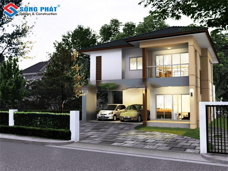 Mẫu thiết kế biệt thự mini được xây dựng kiên cố, với vẻ đẹp thuần khiết