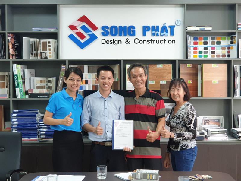 Chú Phong ký kết hợp đồng ngày 15/02/2020 - Thiết kế nhà 1 trệt 3 lầu sân thượng 4x12m