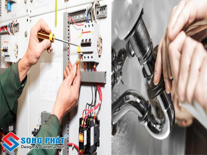 Lắp đặt hệ thống điện nước trong thi công hoàn thiện nhà