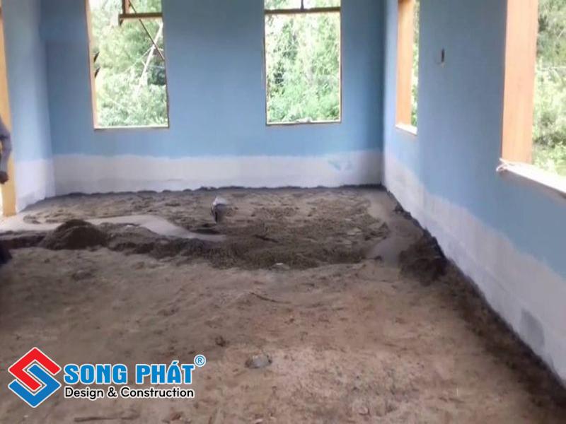 Tiến hành thi công cải tạo nâng nền nhà