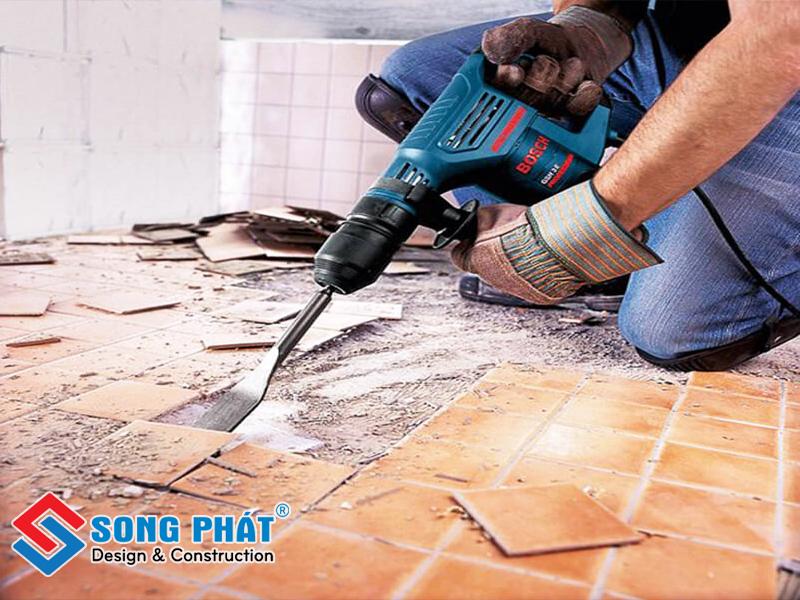Trước khi nâng nền nhà ta cần có công tác xử lý nền nhà cũ