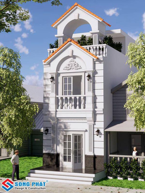 Nhà phố mái ngói có tính linh hoạt cao, dễ dàng thiết kế hợp phong thủy