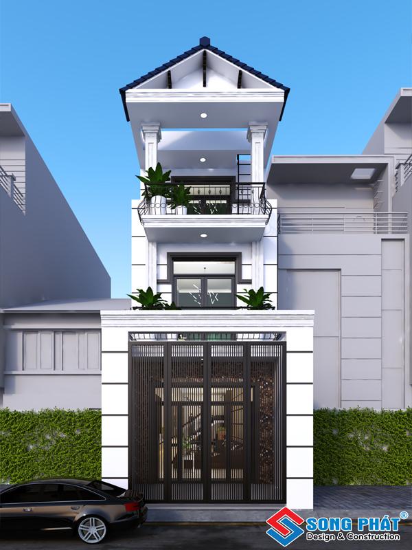 Mẫu nhà phố mái ngói đẹp , sang trọng