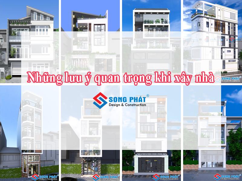 Những lưu ý quan trọng khi xây nhà phố