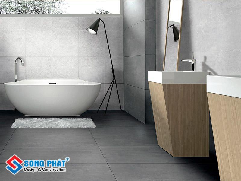 Đề xuất sử dụng gạch xám men là lựa chọn hợp lý cho phòng tắm