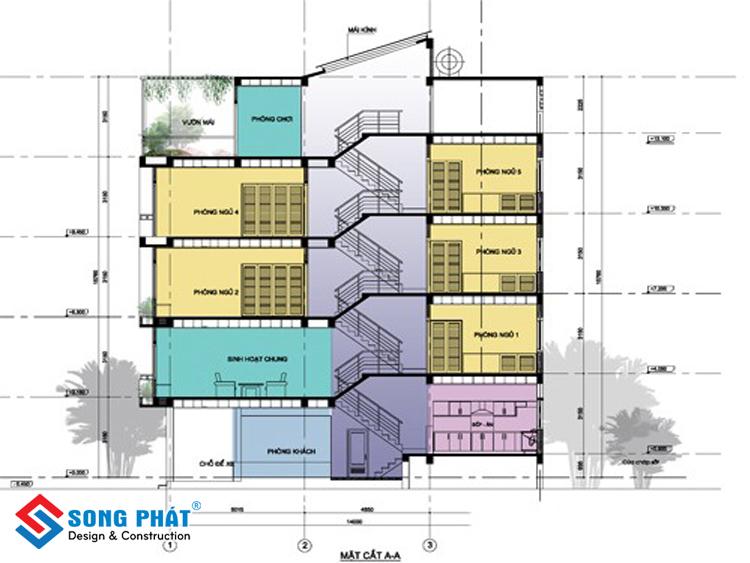 Thiết kế nhà lệch tầng có thời gian và chi phí xây dựng cao hơn