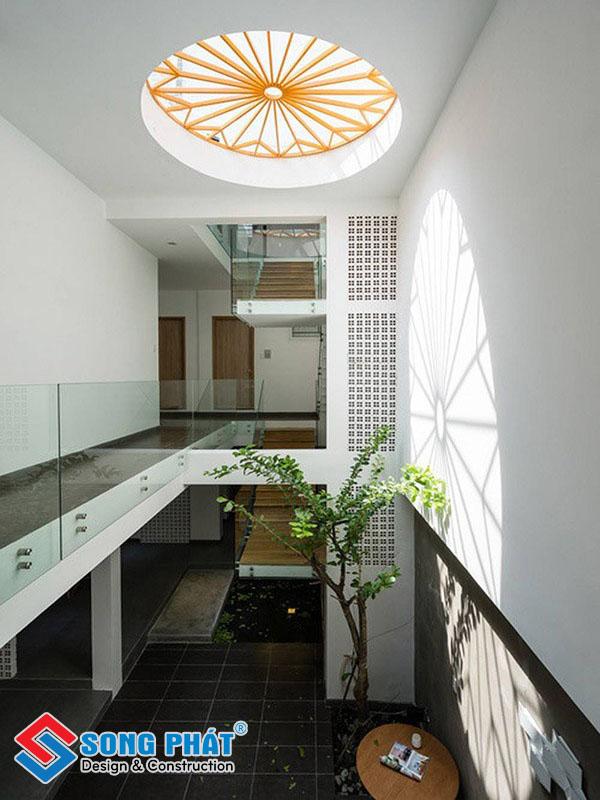 Thiết kế thông tầng phòng khách hợp phong thủy