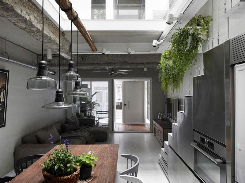 Vách ngăn tự nhiên từ thông tầng sẽ giúp việc đối lưu luồng không khí cho cả ngôi nhà