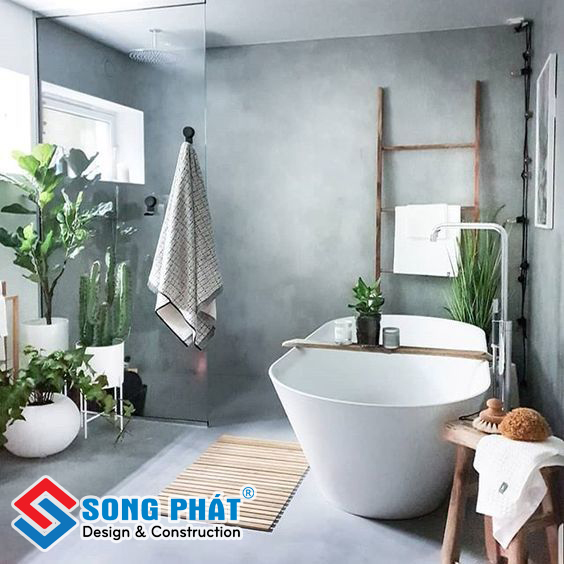 Cách trang trí cây xanh trong phòng tắm tạo cảm bình yên