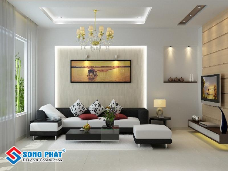 Chọn những loại gạch có màu sắc tươi sáng cho không gian phòng khách nhỏ