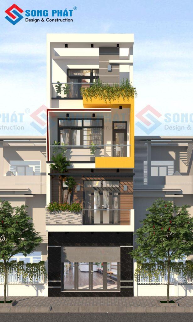 Thiết kế nhà 4 tầng kết hợp kinh doanh.