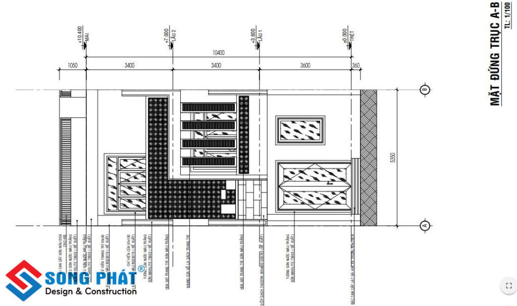 Thi công nhà 3 tầng 5x17m.