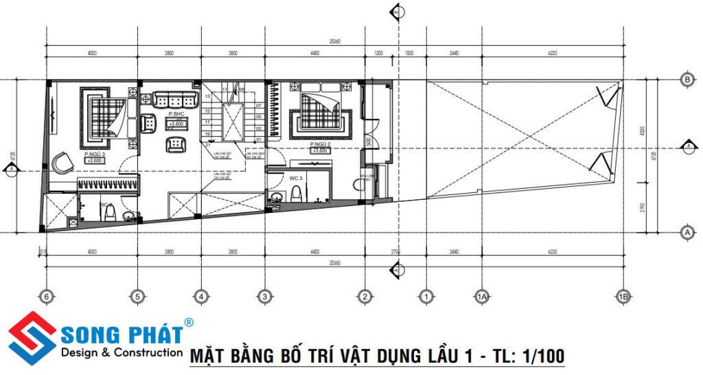 Nhà 2 tầng 6x12m.